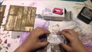 3 Faux wood technique on card