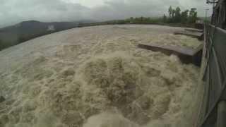 Hochwasser am Hochrhein / Dogern / Waldshut - Rhein Rhine 2013