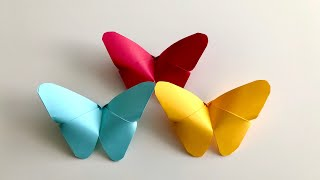 Origami Schmetterling falten mit Papier - basteln mit Kindern - DIY Butterfly