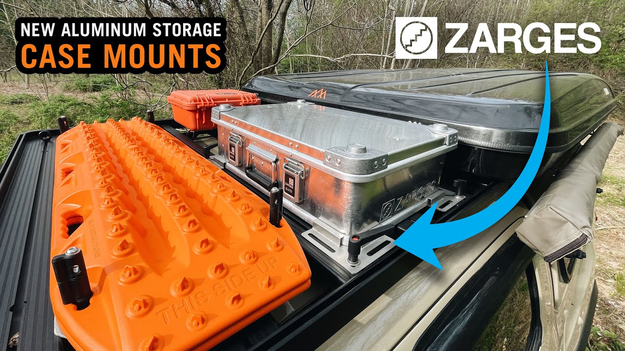NEW - Zarges Universal Roof Rack Mounts for Aluminum Overland Storage Cases