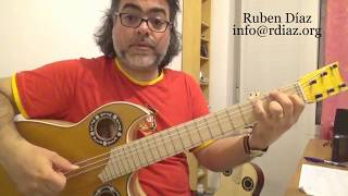 Diminished chords (low, middle and top 4 strings) lesson by Ruben Diaz /Learn flamenco on Skype