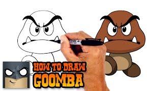 How to Draw Goomba | Super Mario Bros
