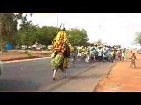 Fajara devil dance dancing dances the Gambia West Africa