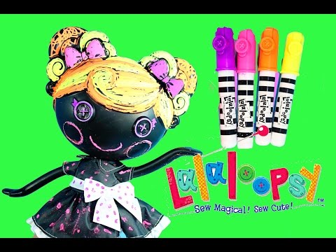 Lalaloopsy Color Me Doll Nick Jr. Paint Draw Stamp Coloring
