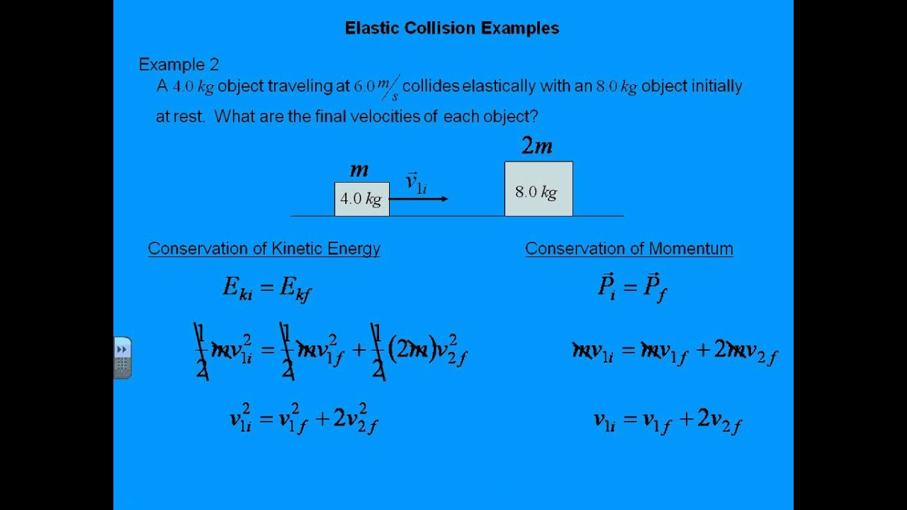 Ap Physics Momentum Elastic Collision Examples Youtube