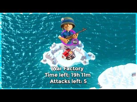 Boom Beach ALL Riflemen Swarm Take on War Factory!