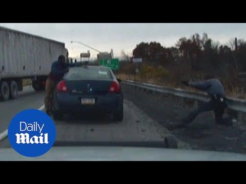 Dash cam video shows a shootout that injured a Pennsylvania cop - Daily Mail