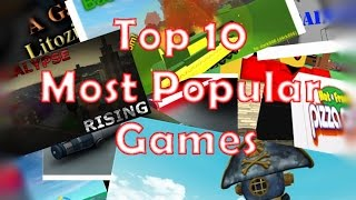 Top 10 Most Popular Roblox Games