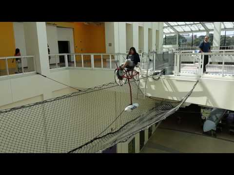 California Science Center high wire bicycle