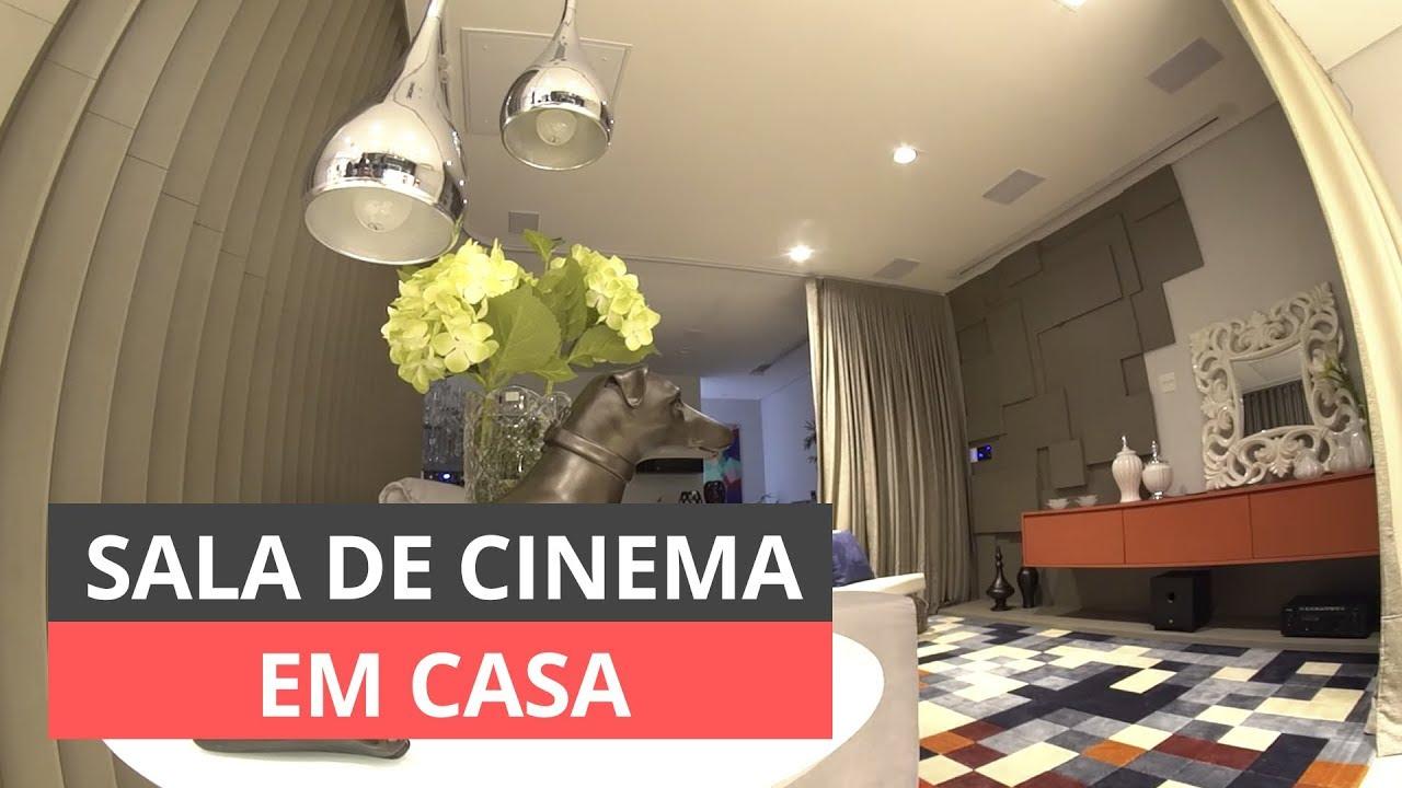 SALA DE CINEMA EM CASA VEJA COMO DECORAR  YouTube