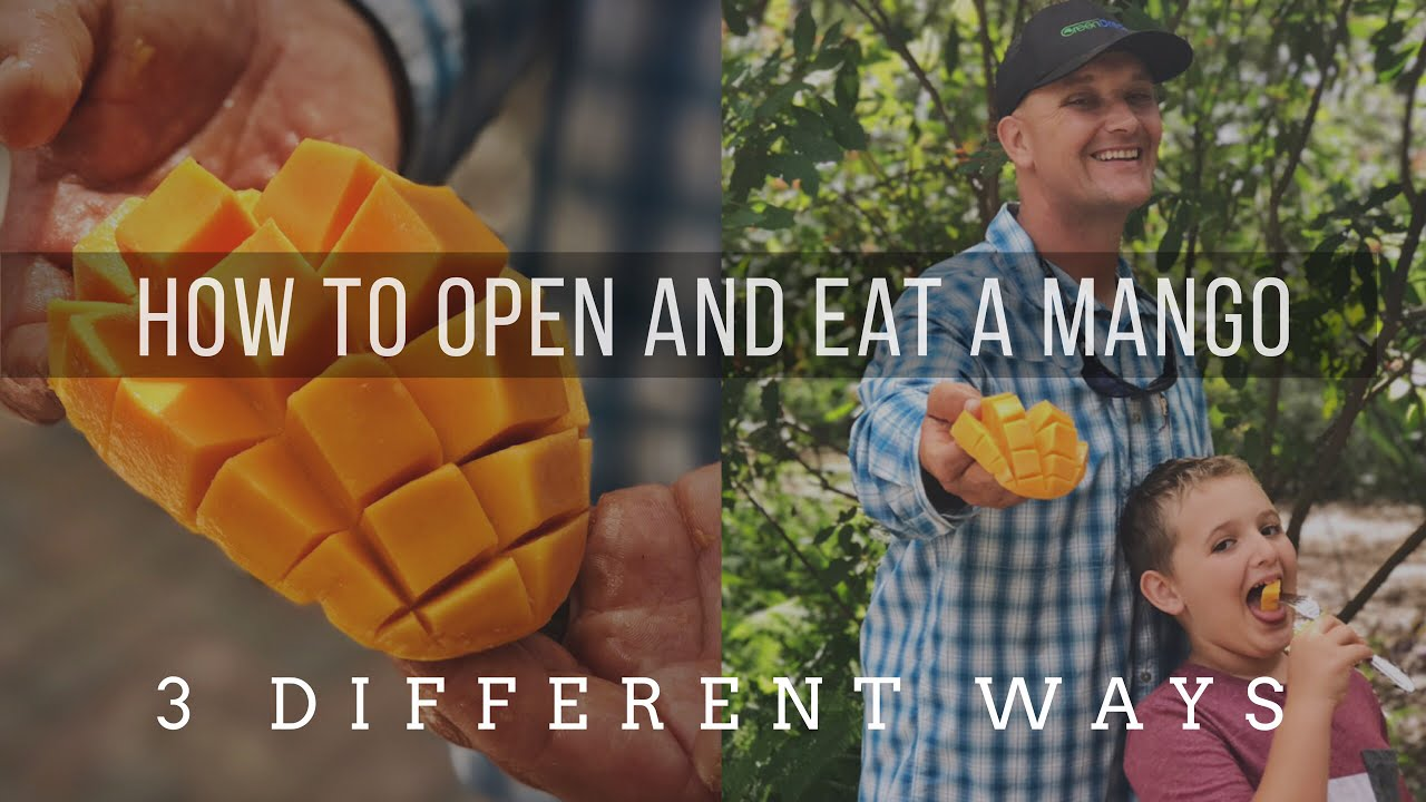 How To Cut Open A Ripe Mango  3 Different Ways!