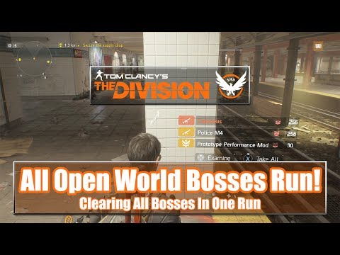 The Division Open World Bosses Run - All Named Bosses In One Run!