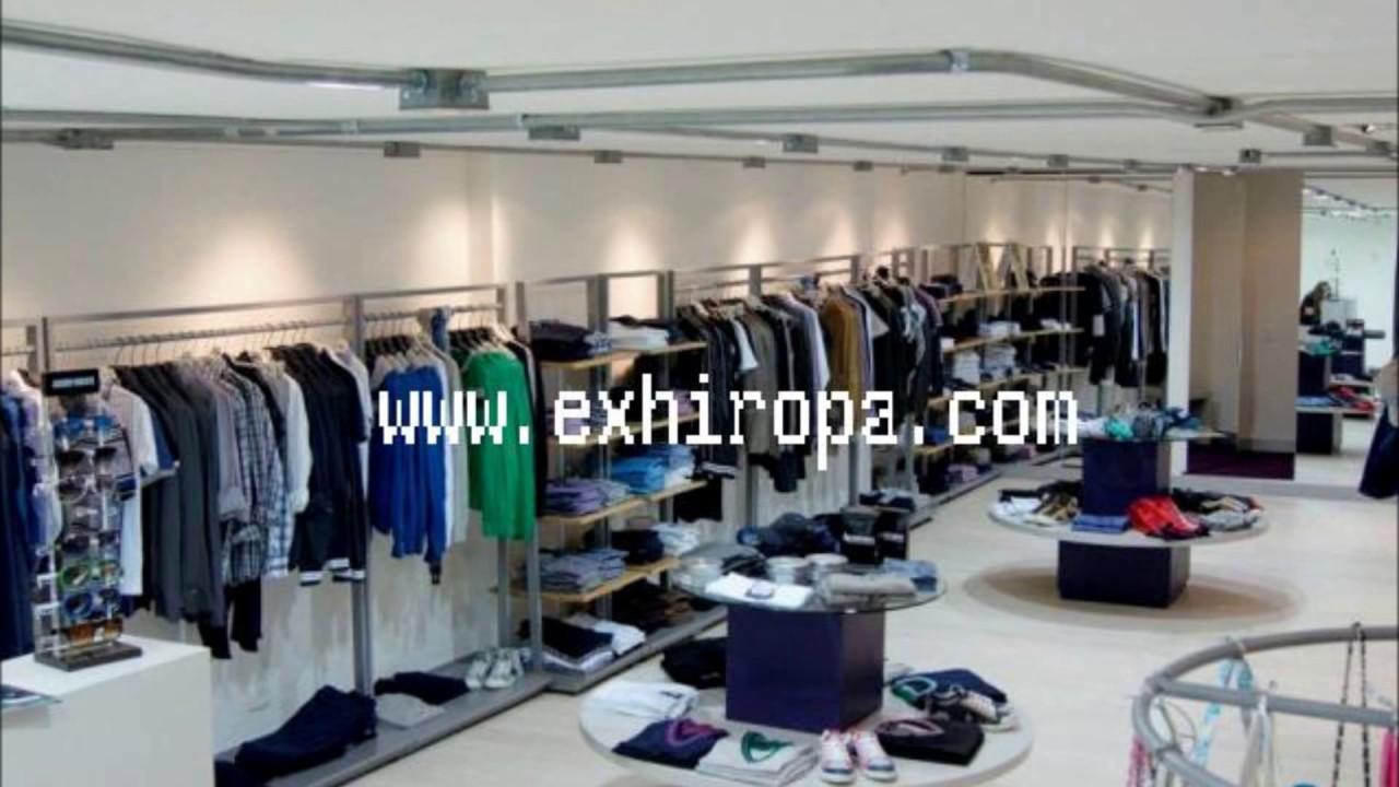 Exhibidores metalicos youtube for Colgadores de ropa