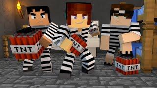 Minecraft : EXPLODIMOS A PRISÃO  !! - ( Polícia e Ladrão)