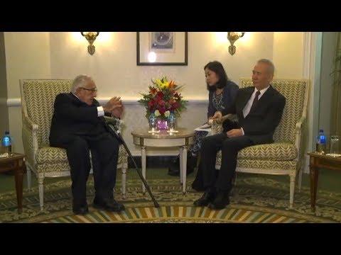 Chinese Vice Premier Liu He meets Kissinger in Washington