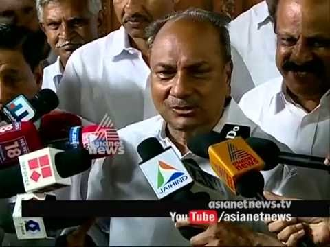 AK Antony responds to internal clash of congress party