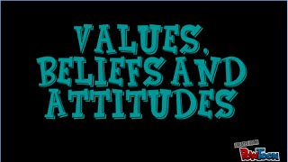Values, Beliefs and Atttitudes Definitions
