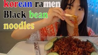 Black bean noodles/Korean Ramen/MUKBANG ASMR Reading Mean comments 악플/선플  읽어주기