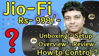 JioFi M2S Unboxing, Setup & Review (150mbps Wireless 4G Portable Data + Voice Device) How To Use?