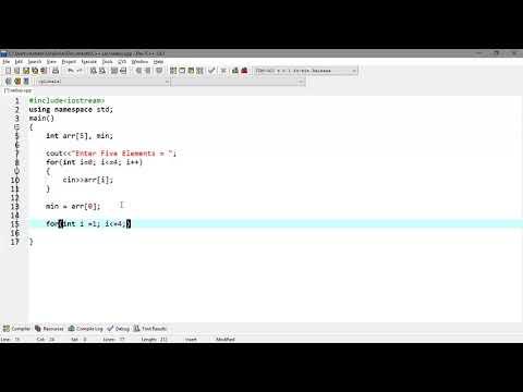 Lecture# 9 Find Minimum and Maximum Element in array | C++ Programming Tutorials in Urdu thumbnail