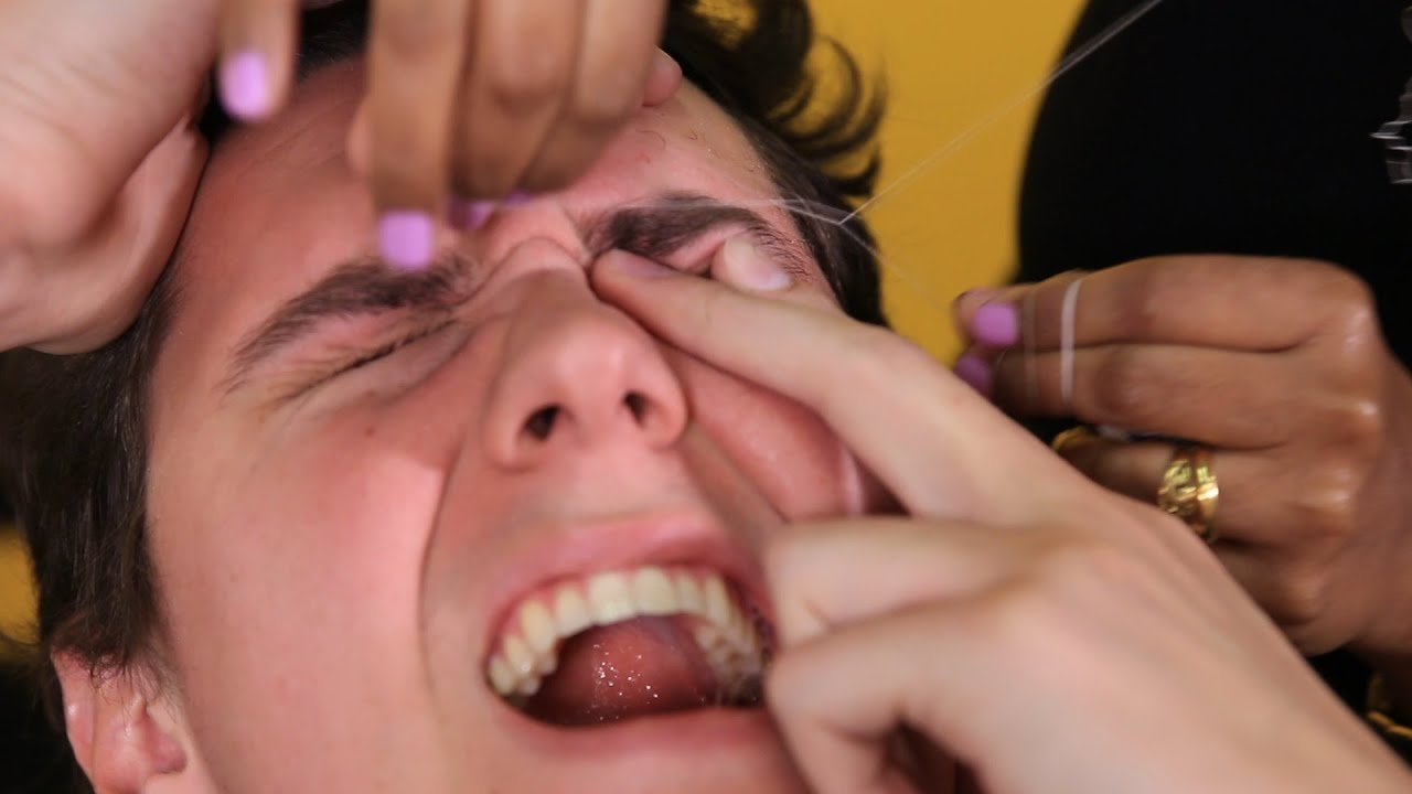 People Try Threading For The First Time Youtube
