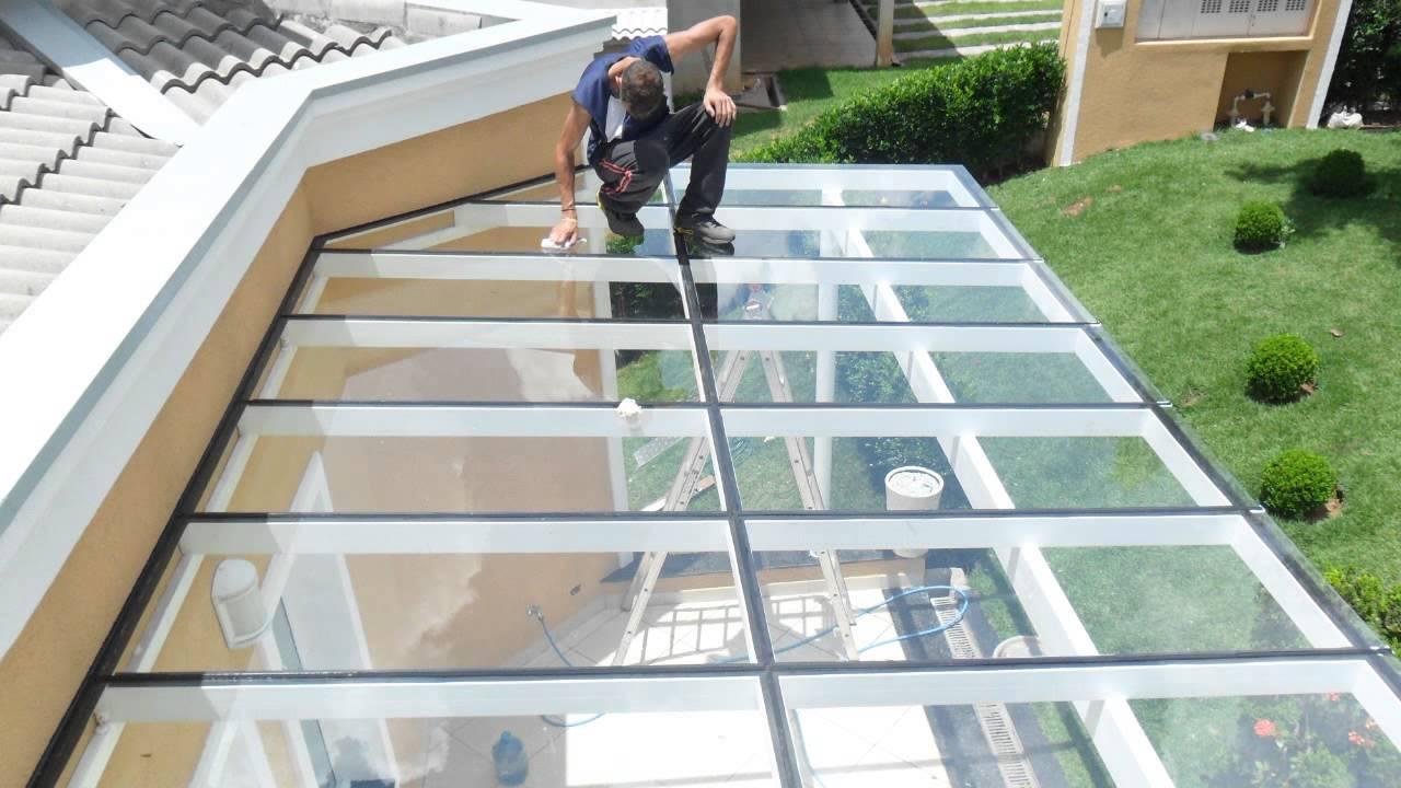 Cobertura de vidro digicom p varanda youtube - Placa policarbonato transparente ...