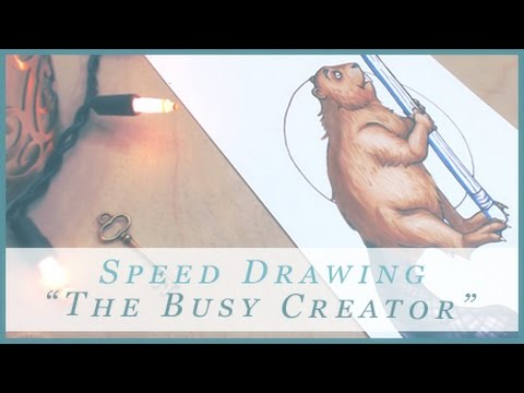 The Busy Creator! - Podcast Interview and Copic Speed Drawing!