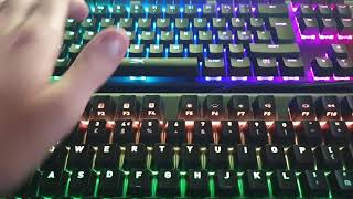 SOUNDTEST: HyperX Alloy FPS RGB(Kailh Silver) vs. Fnatic miniSTREAK(Cherry MX Brown)