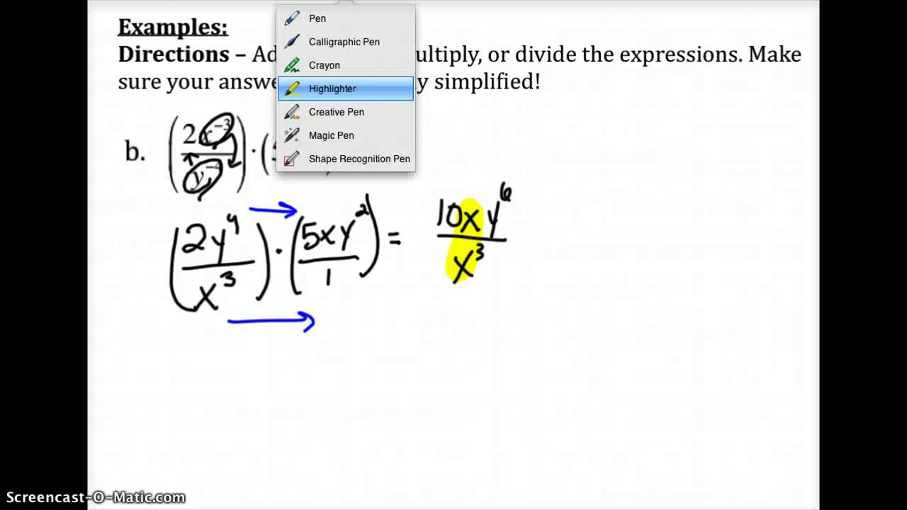 Divide Fractions With Exponents