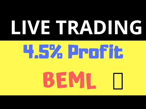 4.5% Profit - Live Trading - BEML Intraday Cover order