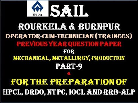 Sail Previous Year Question Paper Mechanical Engineering Pdf