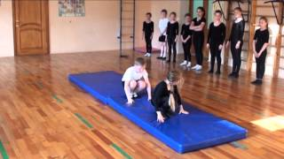 Акробатика.Открытый урок.2 год обучения.29.05.14.
