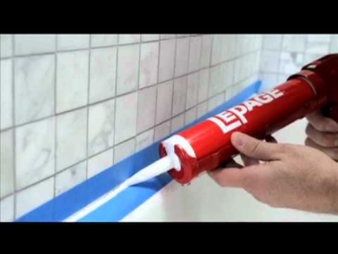 How To Seal Around A Tub Or Shower YouTube - Fast drying shower caulk