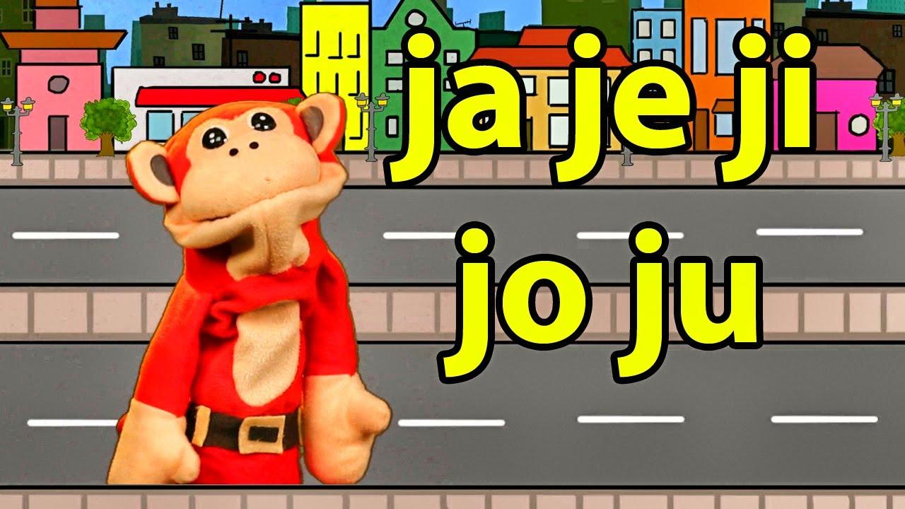 Sílabas ja je ji jo ju - El Mono Sílabo - Videos Infantiles - Educación para Niños #