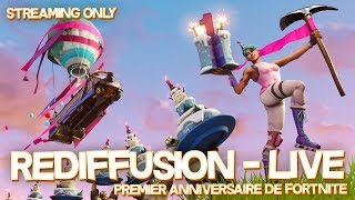 "RUSH EVENING 1ST FORTNITE SAUVER THE WORLD ""CARCASSES A CAKE"" PS4/PC 720P"