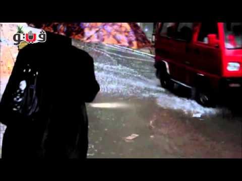 مياه الأمطار تغرق شوارع الإسكندرية وتغضب المواطنين