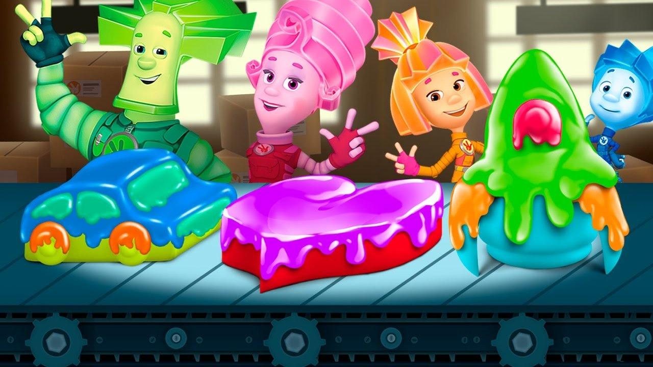 Фиксики новые серии - На кухне Симка и Нолик готовят Торт в мультик игре