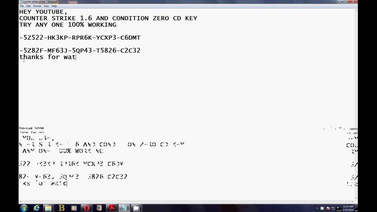 100% working cd key counter strike condition zero nd 1.6 ...