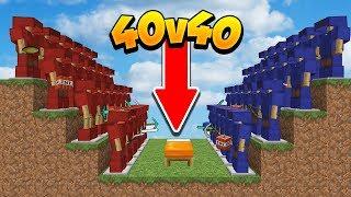 LE NOUVEAU MODE BED WARS 40VS40! - Minecraft BEDWARS