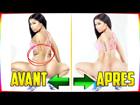 TOP 13 DES STARS AVANT APRES PHOTOSHOP ( NICKI MINAJ, BEYONCE ...)