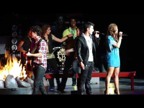 """Jonas Brothers Demi Lovato and Camp Rock Cast """" Our Song""""  Indianapolis 08/08/10"""