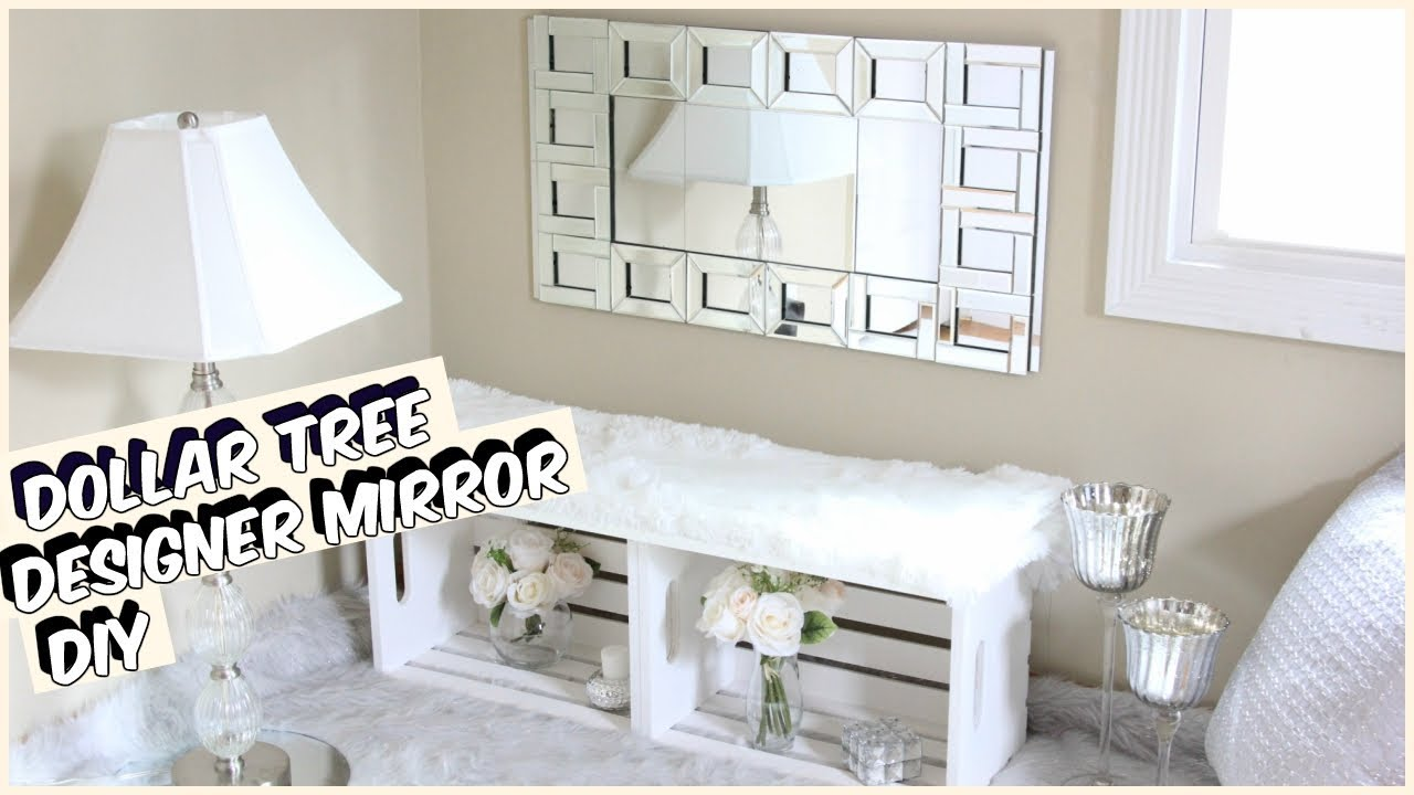 GLAM DOLLAR TREE MIRROR DIY - YouTube