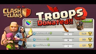 😎143/200 Clash of Clans with Donation 😍😍😍
