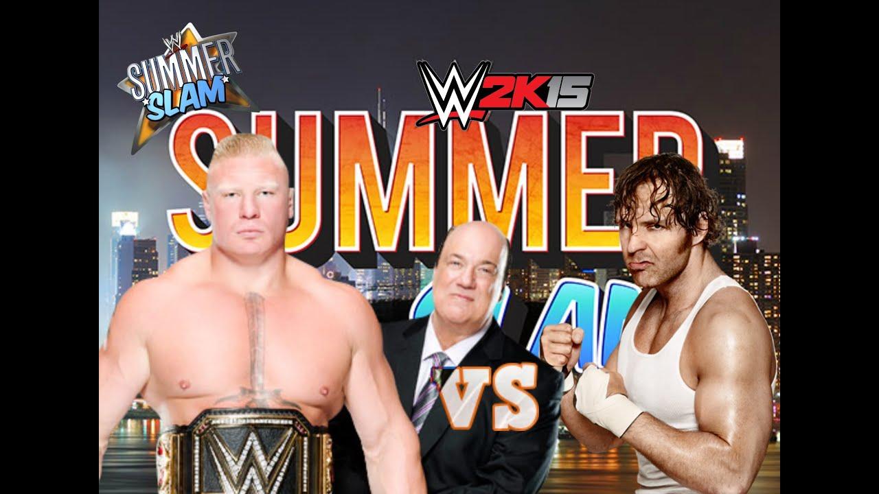 Brock Lesnar Vs Dean Ambrose