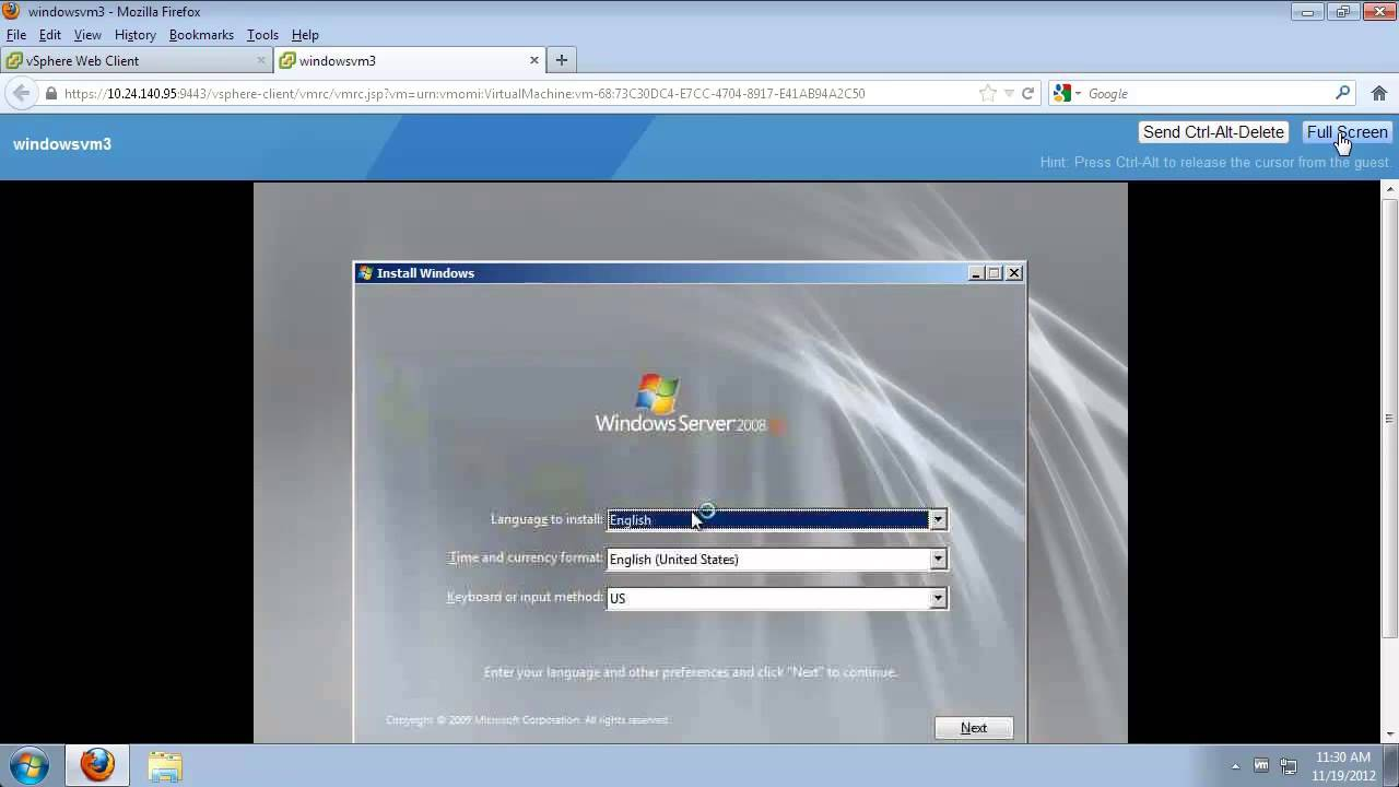 Create VM, Install Guest OS and Install VMware Tools (vSOM)