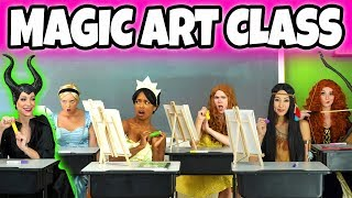 DISNEY PRINCESS MAGIC ART CLASS. (With Tiana, Pocahontas, Merida, Belle, and Cinderella) Totally TV