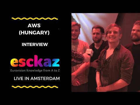 ESCKAZ in Amsterdam: Interview with AWS (Hungary at the Eurovision 2018)