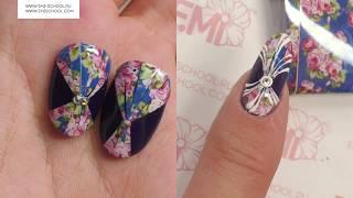 Цветочный дизайн ногтей сама себе. Работаем с PRINCOT