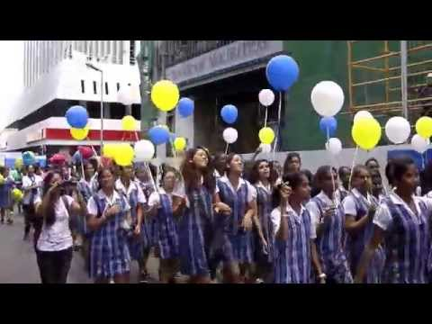 Loreto 170 years Parade in Port-Louis 08.09.2015