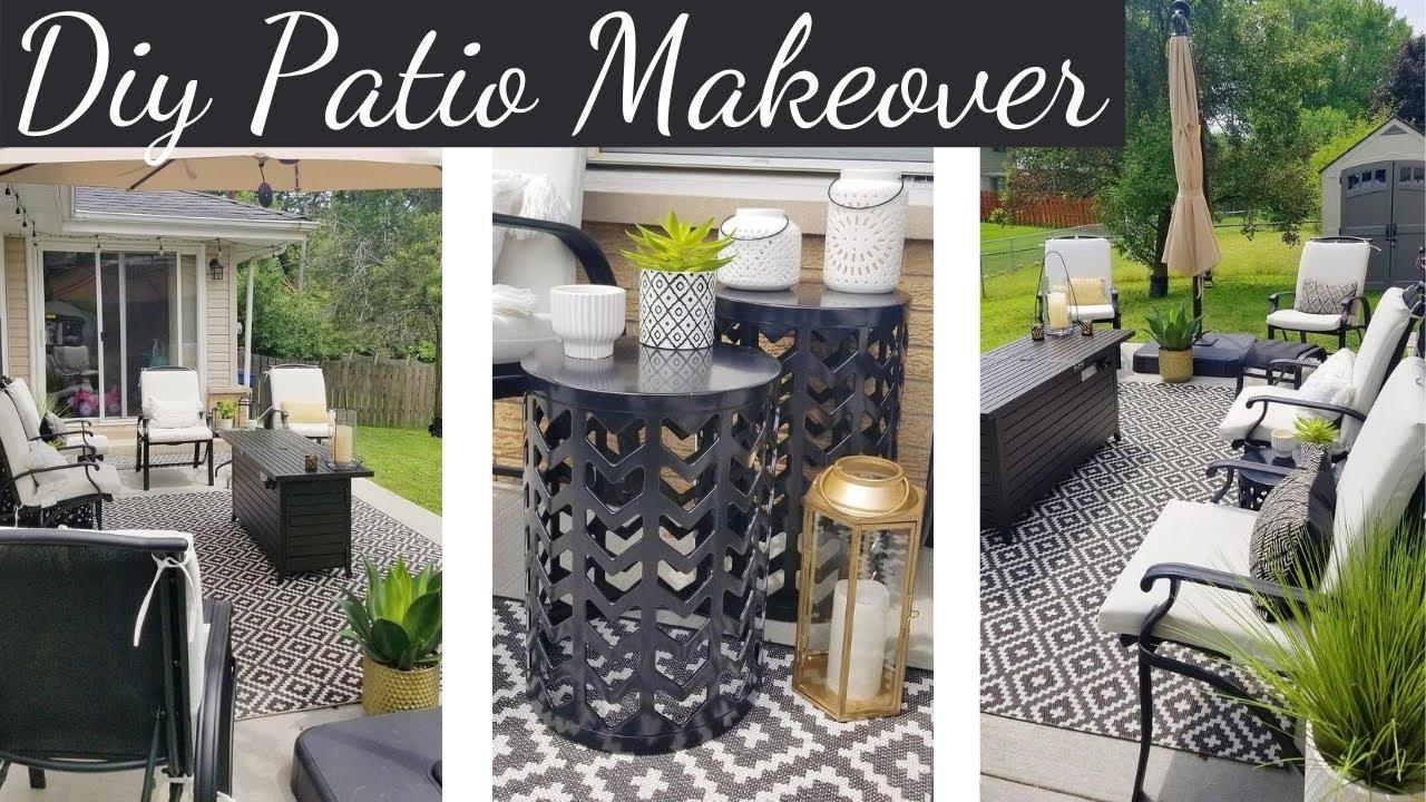 diy patio makeover on a budget black white patio ideas outdoor decorating ideas